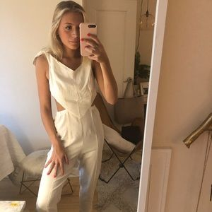 Urban Outfitters white jumpsuit